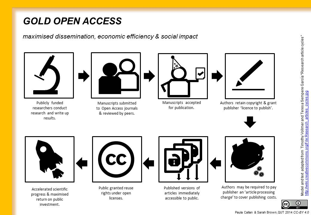 Illustration of the workflow of a gold open access article