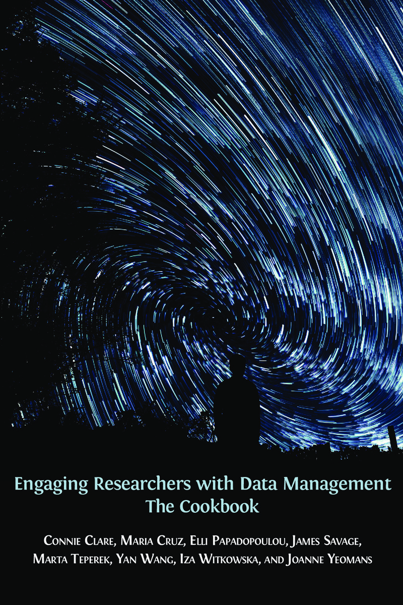Cover of the book Engaging Researchers with data Management: the cookbook